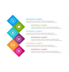 Flat colorful abstract infographic six options vector