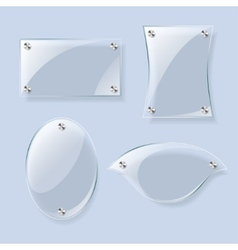 Glass planes collection vector