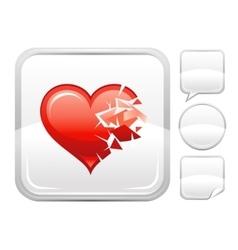 Happy valentines day romance love broken heart vector
