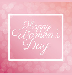 Happy womens day poster bubbles background vector