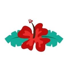 Hibiscus flower isolated icon design vector
