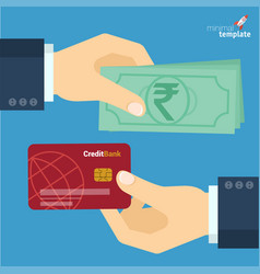 indian rupee payment flat design icon vector image vector image