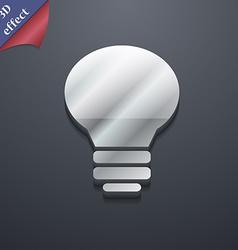 Light lamp Idea icon symbol 3D style Trendy modern vector image