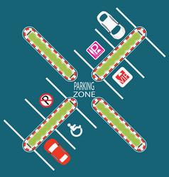 Parking zone5 vector