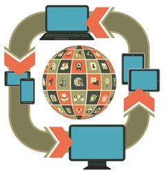 Responsive Web Design Template vector image