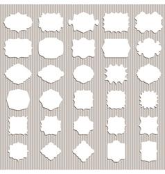 Set of vintage blank frame and label vector