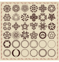 Set of vintage design elements and frames vector image vector image