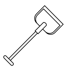 Shovel icon outline style vector