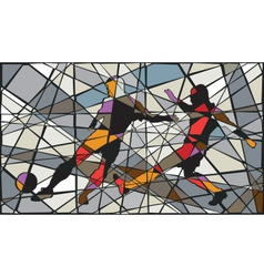 Soccer mosaic vector image vector image