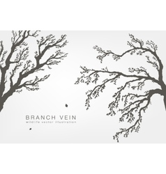 tree branches with leaves and wood vector image vector image