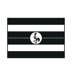Uganda flag monochrome on white background vector