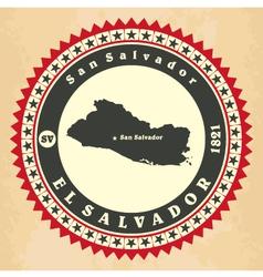 Vintage label-sticker cards of El Salvador vector image vector image