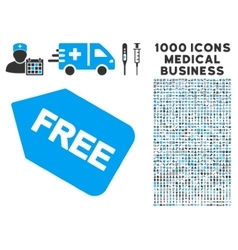 Free sticker icon with 1000 medical business vector
