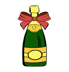 Bottle of champagne icon cartoon vector