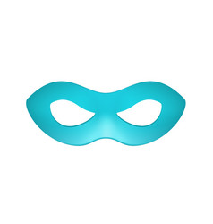 eye mask in turquoise design vector image
