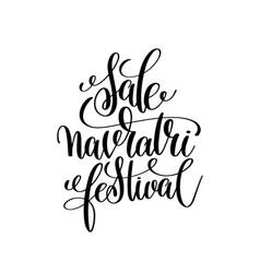 sale navratri festival hand lettering calligraphy vector image