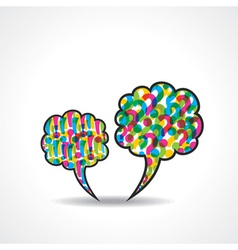 message bubble with question and exclamatory mark vector image