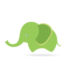 Cute female elephant cartoon drawing thailand vector