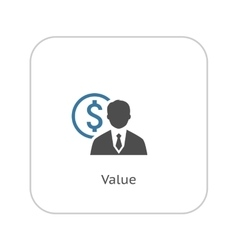 Value icon business concept flat design vector