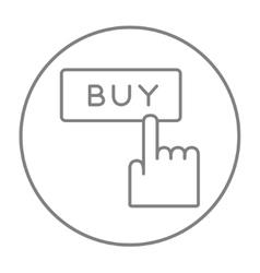 Buy button line icon vector