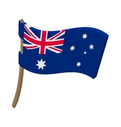 Flag of australia icon cartoon style vector