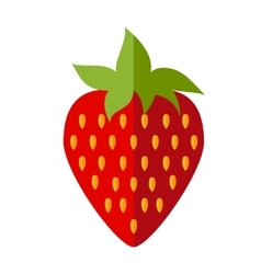 Red flat strawberry vector