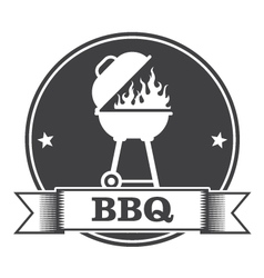 Barbecue bbq and grill party stamp vector image