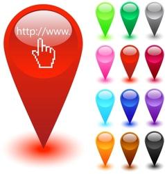 Web site address button vector