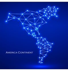 Abstract polygonal map america continent vector