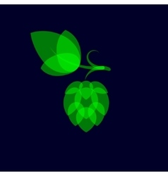 Hops minimalistic color overlay style vector