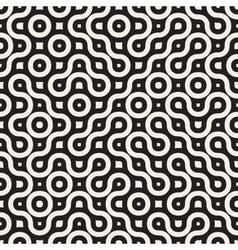 Seamless wavy round lines irregular vector