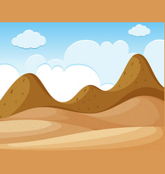 Background scene with desert and mountains vector