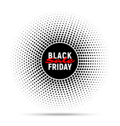 Black friday sale circle banner background vector