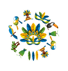 Brazilian culture design vector