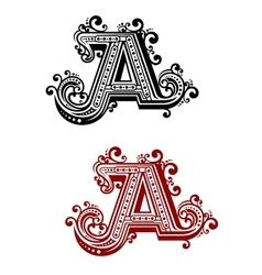 Capital letter a with flourishes vector