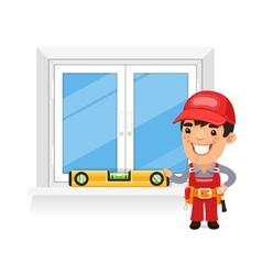 Carpenter checks the new window vector