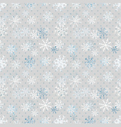 Christmas snowflakes pattern winter seamless vector