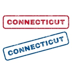 Connecticut rubber stamps vector