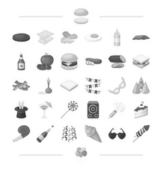 Cooking vegetables food and other web icon in vector