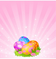 Easter eggs background vector image vector image