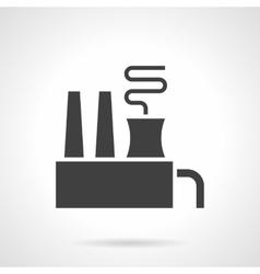 Environment pollution glyph style icon vector