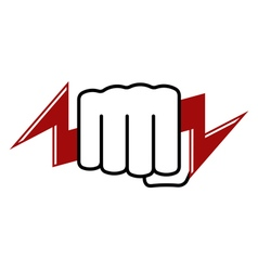 Fist with lightning vector image