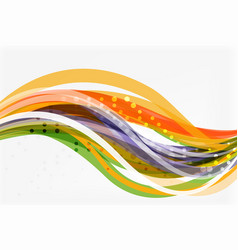 flowing abstract background vector image vector image