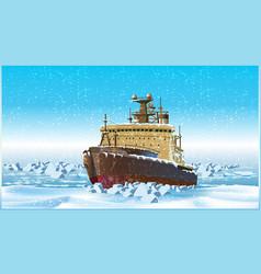 icebreaker vector image