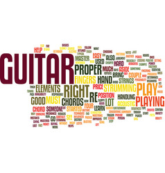Learn and master guitar text background word vector