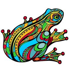 Magic frog vector image
