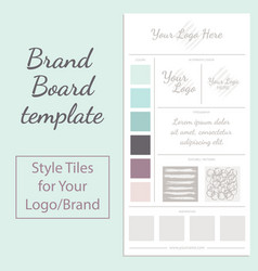 moodboard template isolated on white vector image vector image