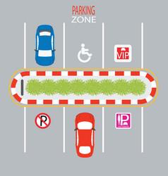 parking zone vector image vector image