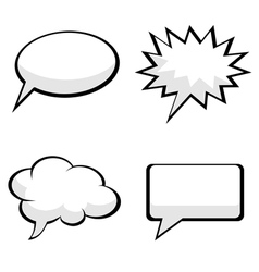 Pop art comic speech bubbles vector