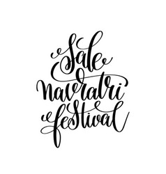 sale navratri festival hand lettering calligraphy vector image